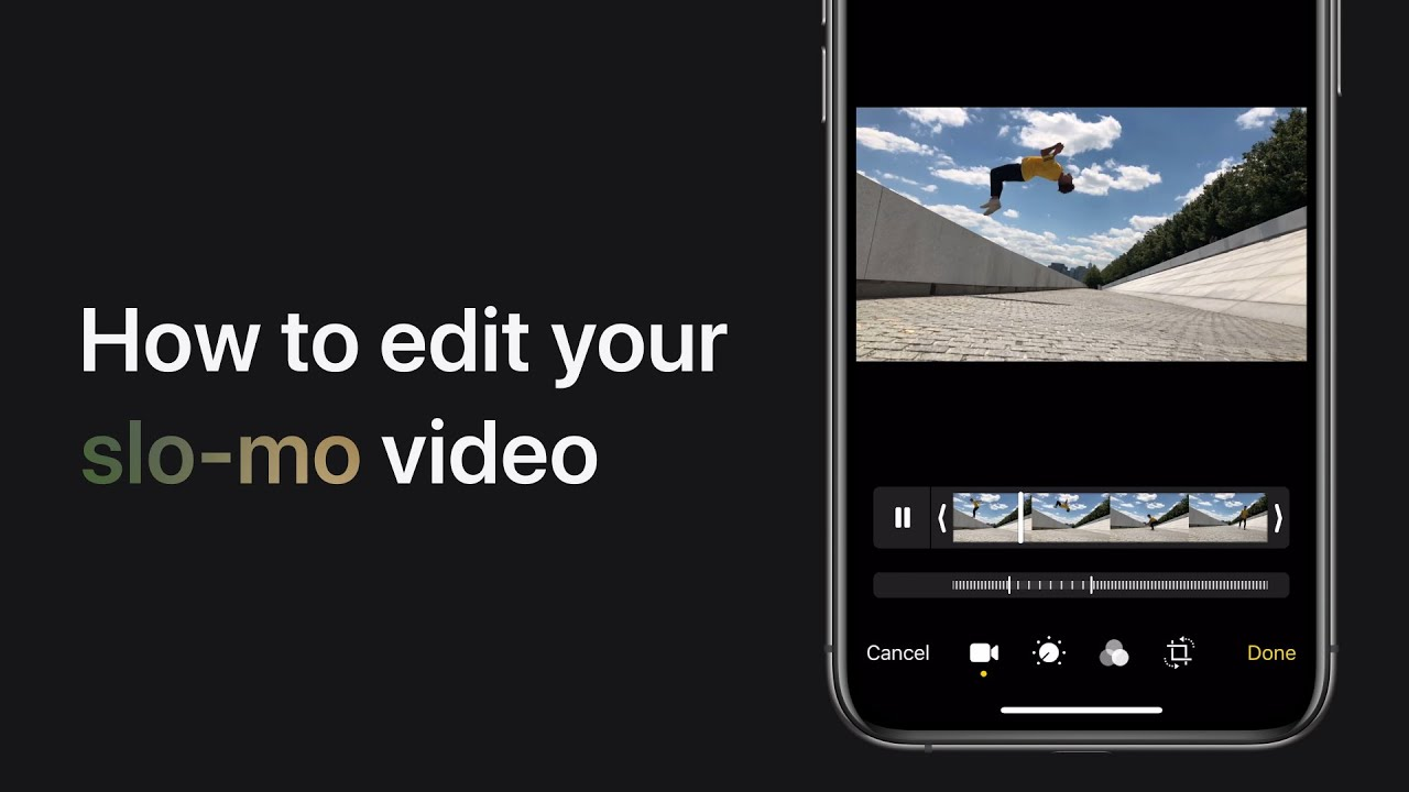 How to edit a slo-mo video on iPhone